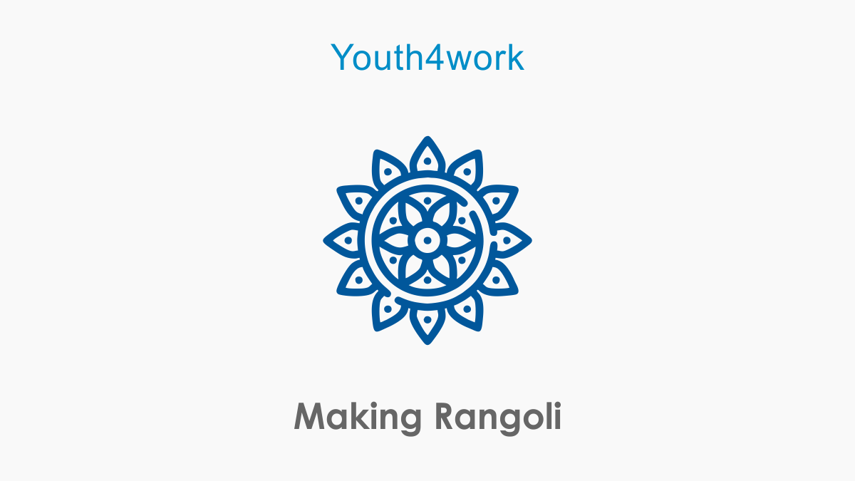 Making Rangoli