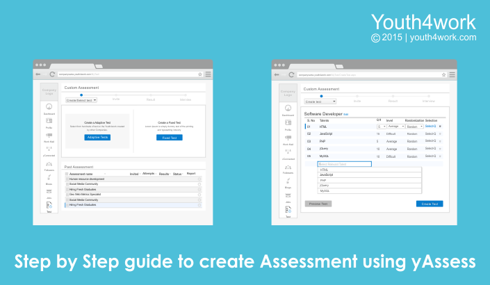 Step by Step guide to create Assessment using yAssess