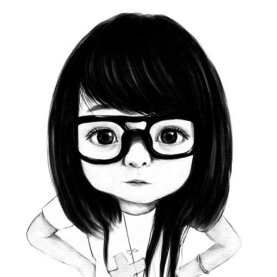 Прикольные картинки на аватарку для девушек брюнеток карандашом, поздравления свадьбой