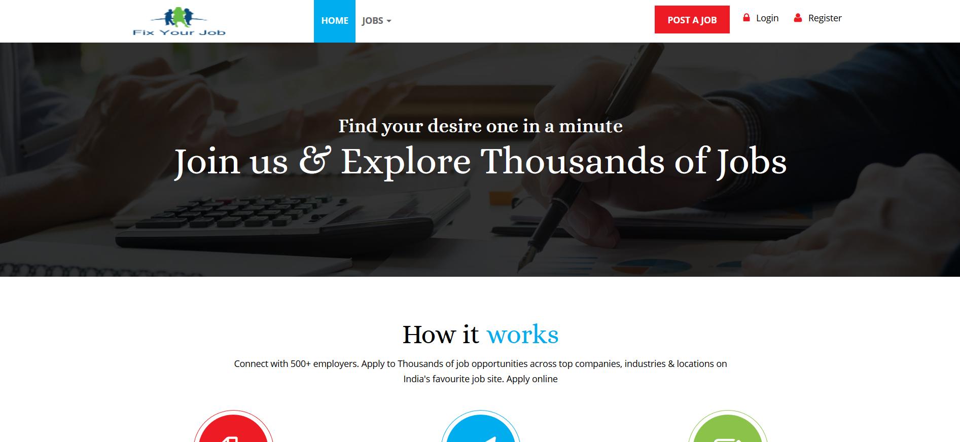 Fix Your Job Portal