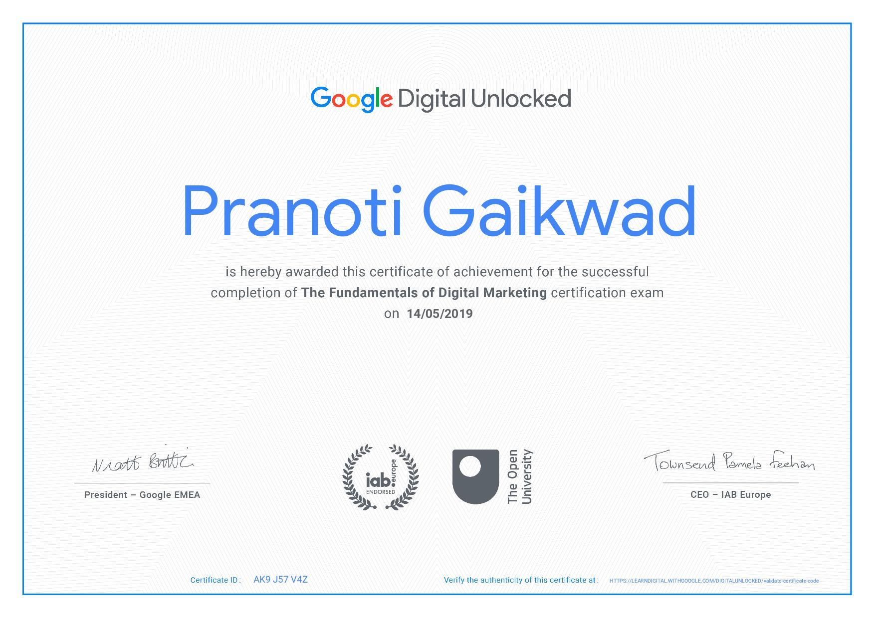 The Fundamentals Of Digital Marketing Certification