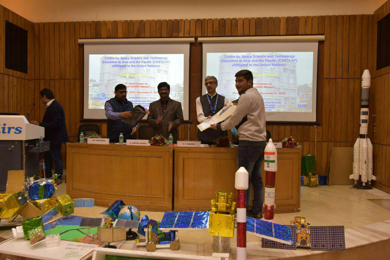 Certification of Small Satellite Mission Course by CSSTEAP (UN) and ISRO