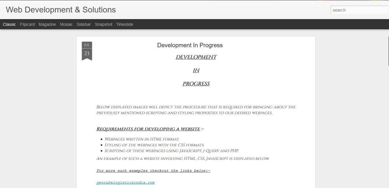 Web Development and Solutions
