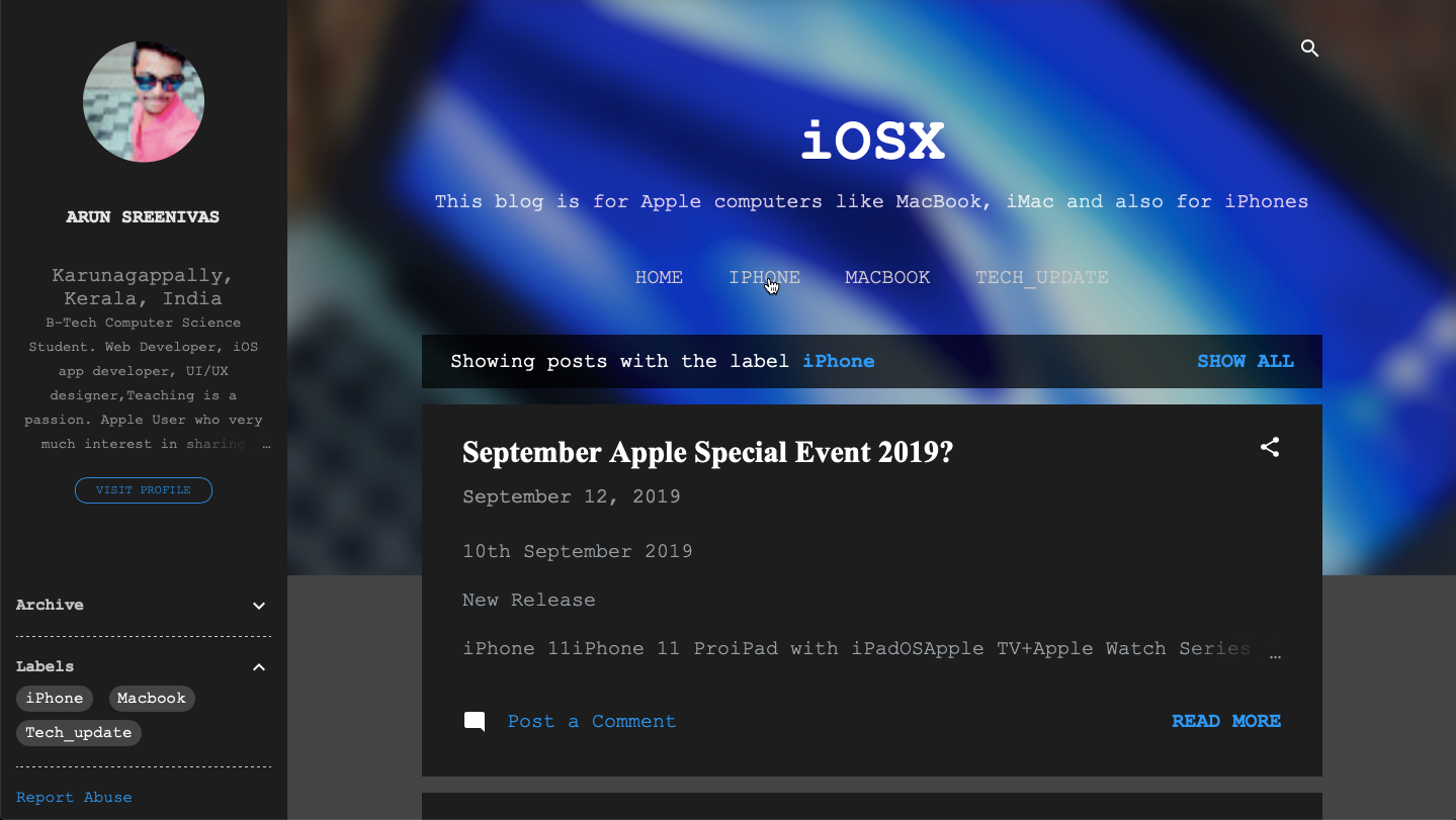 Information for iOS and macOS