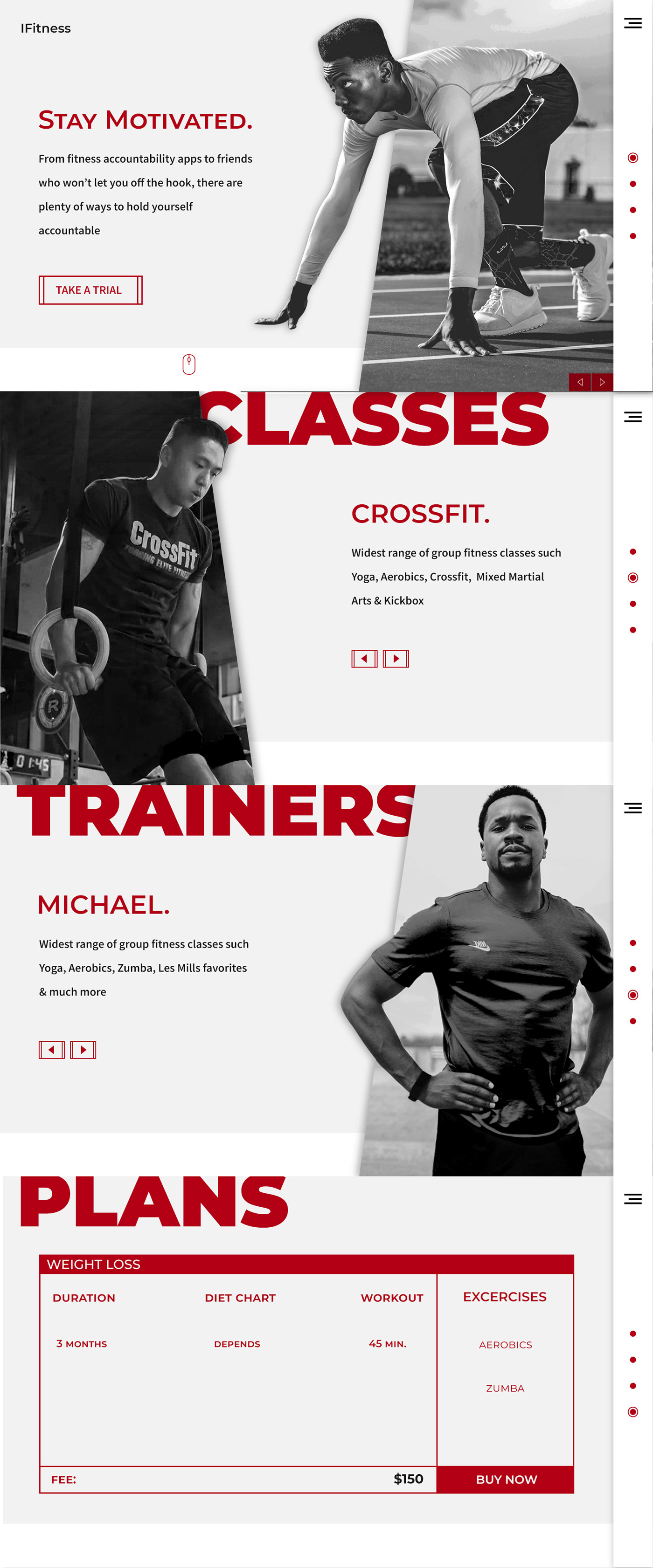 Fitness - Website