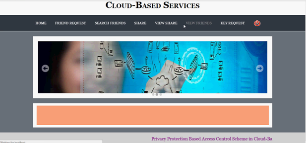 PRIVACY PROTECTION BASED ACCESS CONTROL  SCHEME IN CLOUD BASED SERVICES