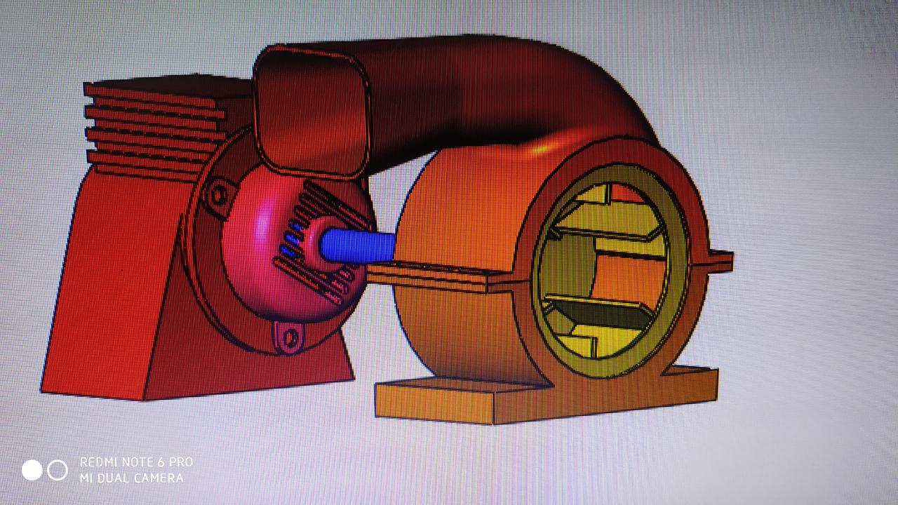 Blower in solid works