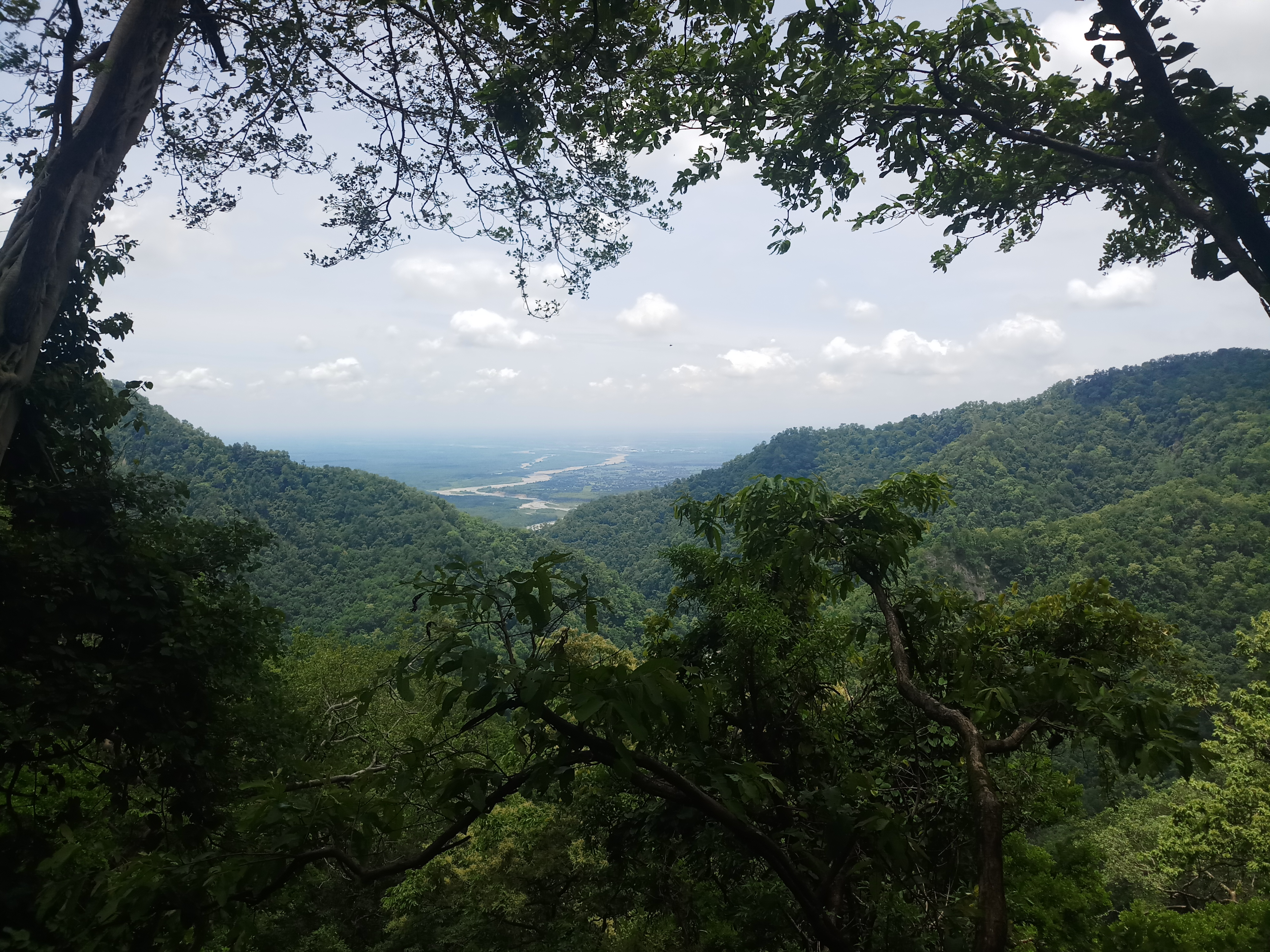 View from mountainous top.