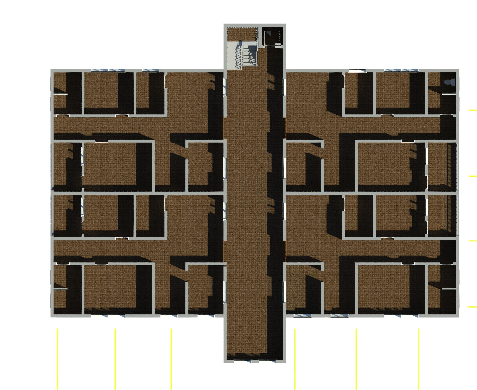 Plan of a building